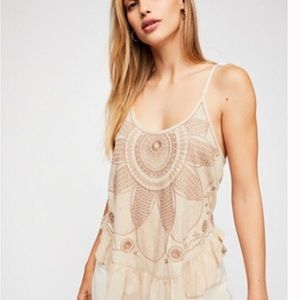 Fp Beaded Cami With Tie Straps